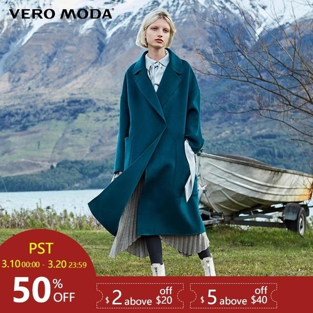 Vero Moda/Новое Двустороннее пальто из 100% шерсти | 318427505