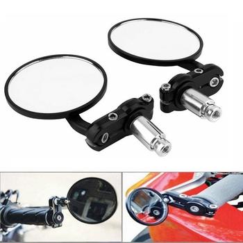 2 sztuk para lusterka motocyklowe okrągłe 7 8 #8222 uchwyt Bar End składany motocykl lusterko boczne dla Suzuki dla Kawasaki forHonda tanie i dobre opinie LMoDri Z2C004-2nd 14cm Aluminum Alloy Lusterka boczne i akcesoria 320g