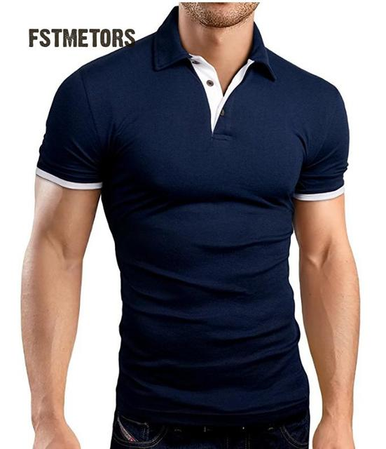 Người đàn ông của thời trang giải trí trau dồi đạo đức của một người ngắn tay áo POLO unlined may mặc trên màu rắn POLO áo sơ mi