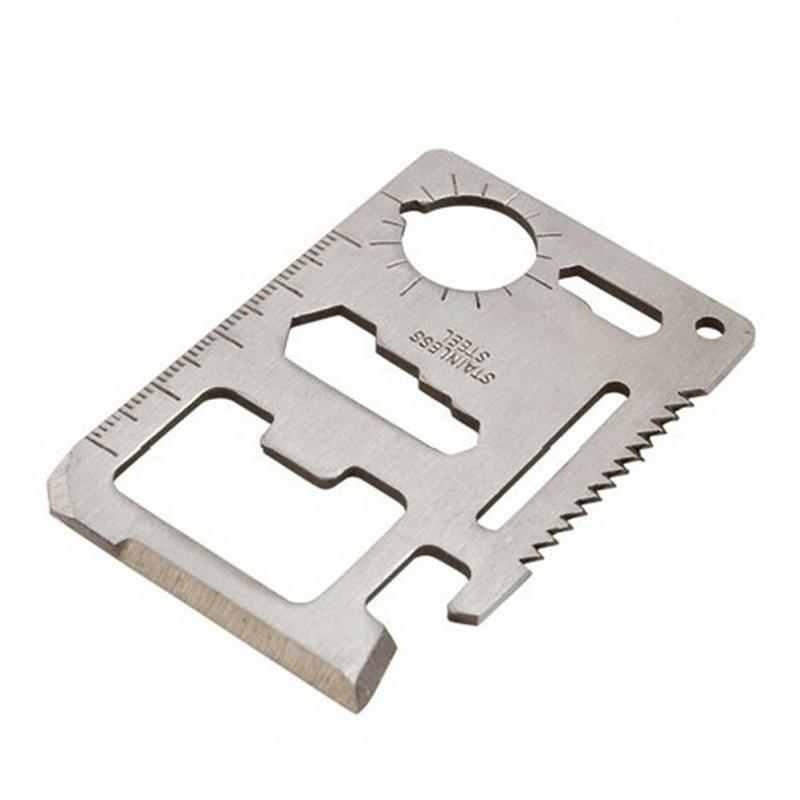 Outdoor Stainless Steel Credit Card Knife Multifunctional EDC Tool Army Camping Military Hiking Survival Life-saving Switzerland(China)