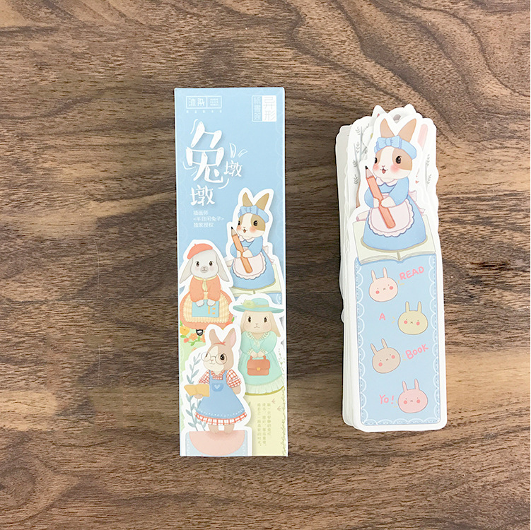 Mohamm 30pcs/lot Cute Rabbit Paper Bookmark For Books Clips Book Markers Stationery School Office Supplies