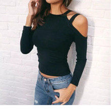 Knitting Off Shoulder Long Sleeve Blouse Fashion Spring Women Clothes Sobretudo Feminino European Style Ey*