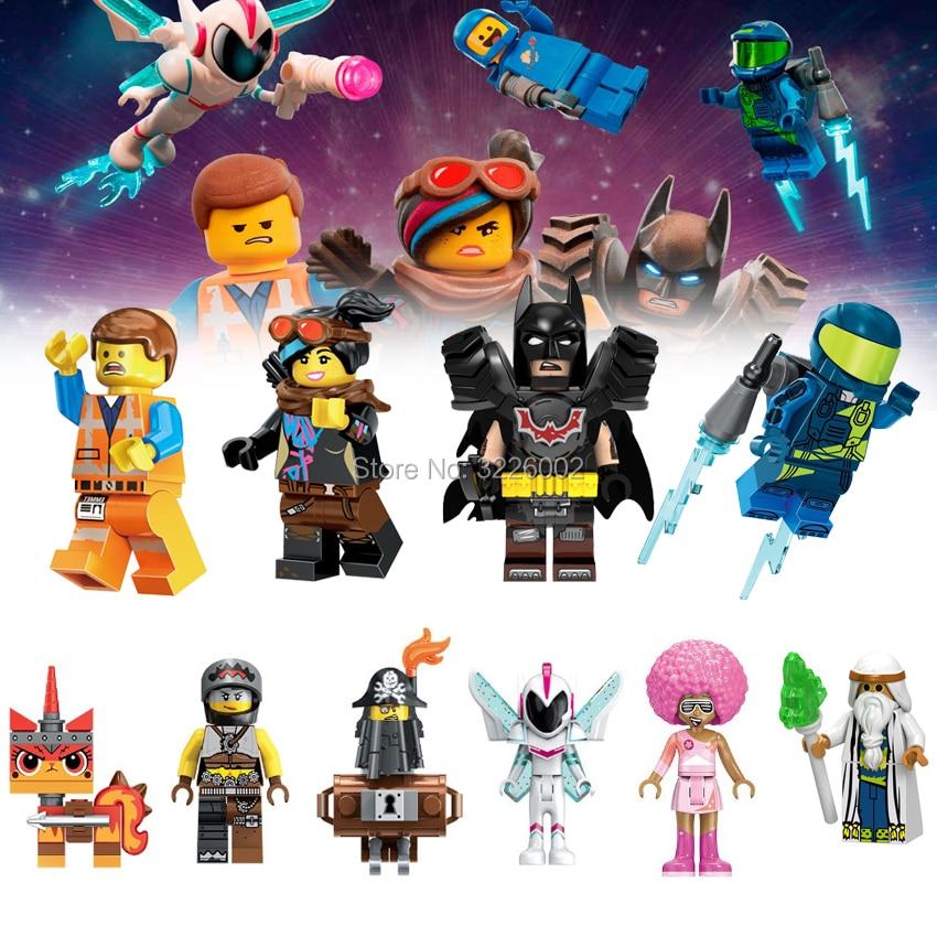 Batman Movie 2 Emmet Figures Wyldstyle Anime Mayhem Rex Melody Disco Unikitty Sharkira Metalbeard Building Blocks Toys Bricks скуби ду лего