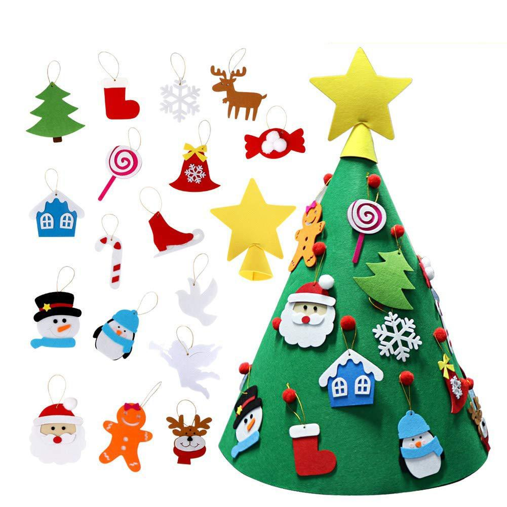 Toddler Christmas Tree Craft.Us 14 7 30 Off 3d Diy Felt Christmas Tree Upgraded Vivid Color Toddler Xmas Diy Toys In Craft Toys From Toys Hobbies On Aliexpress Com Alibaba