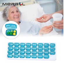 31 Days Tablet Divider Medical Container Health Care Lattices Pill Box Medicinal Plastic For Tablets Weekly Pillbo