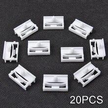 20 Exterior Side Sill Skirt Clip Fasteners Bracket For BMW E36 E46 E90 E91 White(China)