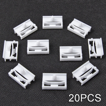 20 Exterior Side Sill Skirt Clip Fasteners Bracket For BMW E36 E46 E90 E91 White image