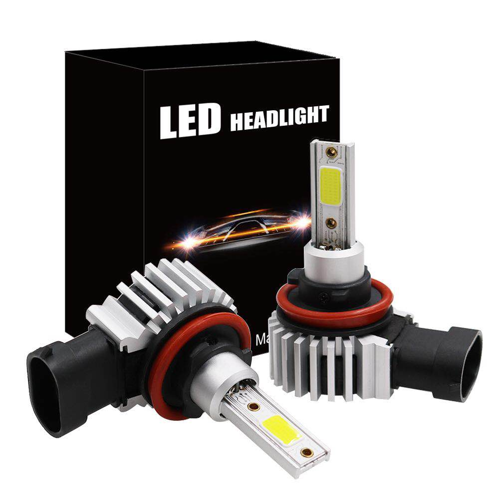 2pcs 60W 8000LM Car LED Headlight Bubls Mini Headlight Kit for High/Beam Bulb fog Light 6000K White H1 H3 9006 9005 H4 H7 H8 H11