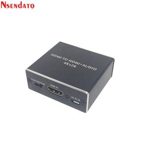 Image 2 - 4K x 2K HDMI ל hdmi + אודיו 3.5mm ממיר סטריאו 5.1 ערוץ אופטי SPDIF אודיו Extractor מתאם ספליטר עבור PS4 HDTV STB מחשב