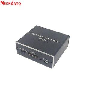 Image 2 - 4K x 2K HDMI vers HDMI + Audio 3.5mm convertisseur stéréo 5.1 canaux optique SPDIF Audio extracteur adaptateur séparateur pour PS4 HDTV STB PC