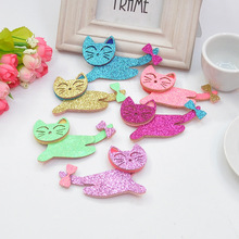 Fashion Cartoon Hairpin Long Tail Kitty Hair Barrettes Lovely Animal Design Clips Blinking Cat Ornaments