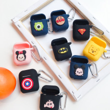 1 PCS Cartoon Soft Silicone Case For Apple Airpods Case Shockproof Cover For Apple AirPod 1:1 Earphone Cute Protector Case Part