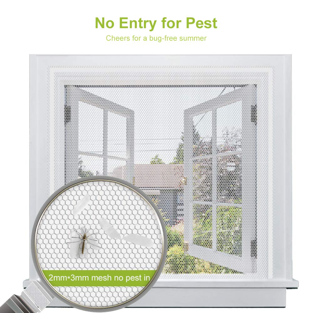Fly Mosquito 4 Packs Summer Window Net Mesh Screen Room Cortinas Mosquito Curtains Net Curtain Protector Fly Screen Insets-in Window Screens from Home & Garden