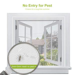 Image 1 - Fly Mosquito 4 Packs Summer Window Net Mesh Screen Room Cortinas Mosquito Curtains Net Curtain Protector Fly Screen Insets