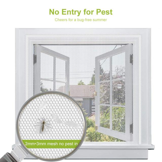 Fly Mosquito 4 Packs Summer Window Net Mesh Screen Room Cortinas Mosquito Curtains Net Curtain Protector Fly Screen Insets