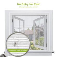Fly Mosquito 4 paczki letnie okno netto osłona siatkowa zasłony pokojowe moskitiery netto firanka ochronna ekran przeciw muchom Insets