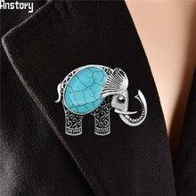 خمر الفيل حجر الراين قذيفة دبابيس العتيقة الفضة مطلي الأزياء والمجوهرات