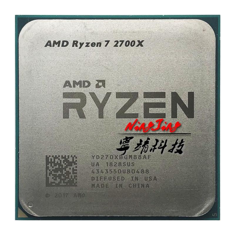 AMD Ryzen 7 2700X R7 2700X 3 7 GHz Eight Core Sinteen Thread 16M 105W CPU