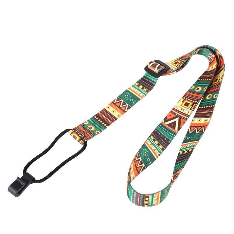 55-95cm Adjustable Nylon Colorful Vivid Printing Style Ukulele Strap Belt Sling With Hook Ukulele Guitar Accessories