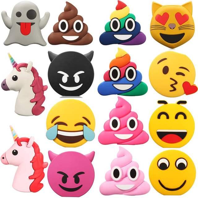 Emoji Bonitos Dos Desenhos Animados Banco Do Poder Do Telefone DIY Kit Case Para Casos de Telefone Celular Carregador de Bateria