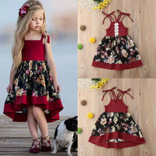 SUmmer Toddler Kids Baby Girls Strap Dress Party Princess Fl
