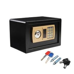 Caja de Seguridad Digital de 310X200X200mm a prueba de fuego caja de seguridad Ideal caja de contraseña electrónica segura para joyería caja fuerte dorada