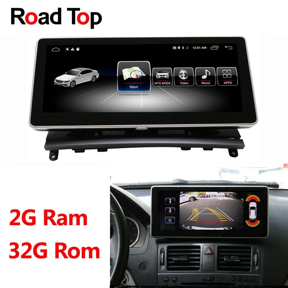 10.25 Android Affichage pour Mercedes Benz Classe C W204 2008-2010 Autoradio Moniteur GPS Navigation Bluetooth Multimédia écran