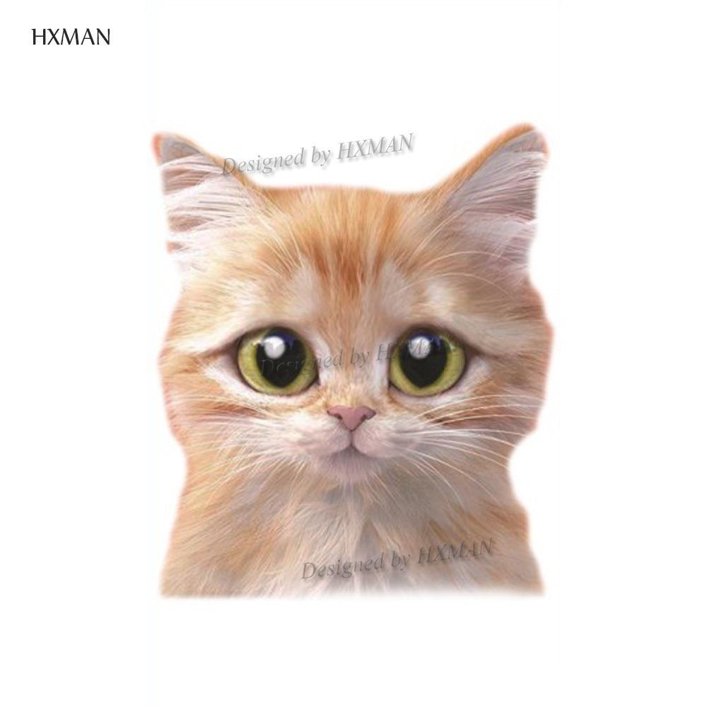 HXMAN Cat Temporary Tattoos Sticker Animal Tattoo For Women Fashion Sexy Body Art Child Girls Hand Fake Tatoo 9.8X6cm A-370