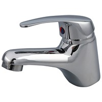 NEW Chrome Single Lever Lavatory Bathroom Faucet with Pop Up Drain