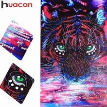 HUACAN Diamond Painting Tiger Special Shaped Diamond Embroidery Picture Of Rhinestones Partial Diamond Mosaic Animal 37x57cm