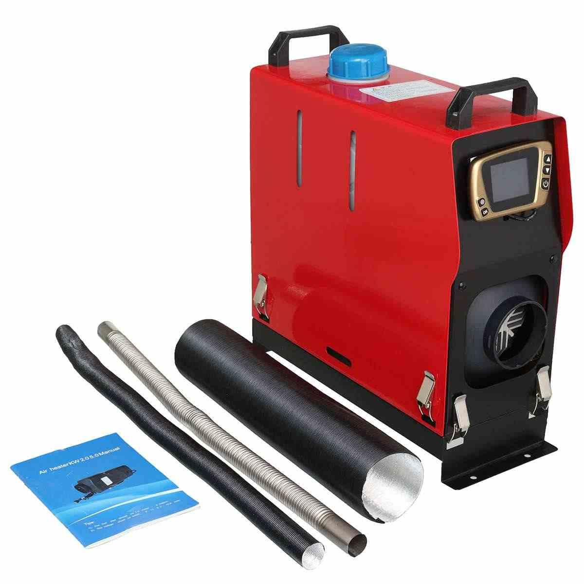 Dilepas 8KW 12V Diesel Heater Semua Dalam Satu Pemakaian Parkir Udara Hangat + Emas LCD Switch + Bahasa Inggris REMOTE untuk Bus Truk Perahu Van