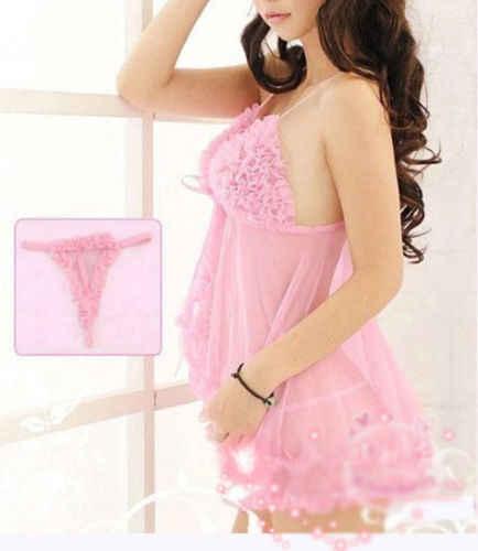 Seksi Babydoll Lingerie Renda Wanita Pakaian Dalam Wanita Gaun Biru & Pink Baju Tidur Pakaian Dalam Babydoll Baju Tidur G-string Chemises Hot Sale