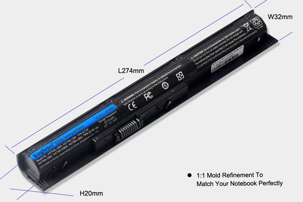 Аккумулятор Korea Cell VI04 для HP Pavilion 17 15 ENVY - Аксессуары для ноутбуков - Фотография 4