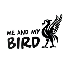 Me And My Bird Cartoon Funny Car Sticker Motorcycle SUVs Bumper Car Window Vinyl Decor Decals 26 6 2cm car sticker helmet for ants fun deep sticker motorcycle suvs bumper car window laptop car styling vinyl decals