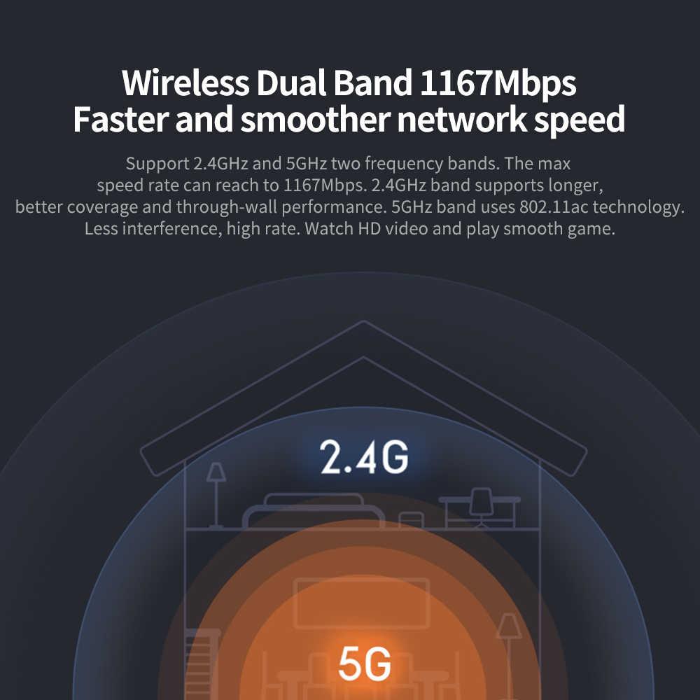 Xiaomi راوتر 4A اللاسلكية WiFi 2.4 GHz 5 GHz ثنائي الموجات 1167 Mbps واي فاي مكرر 4 الهوائيات عالية الربح 64 MB شبكة موسع للمنزل