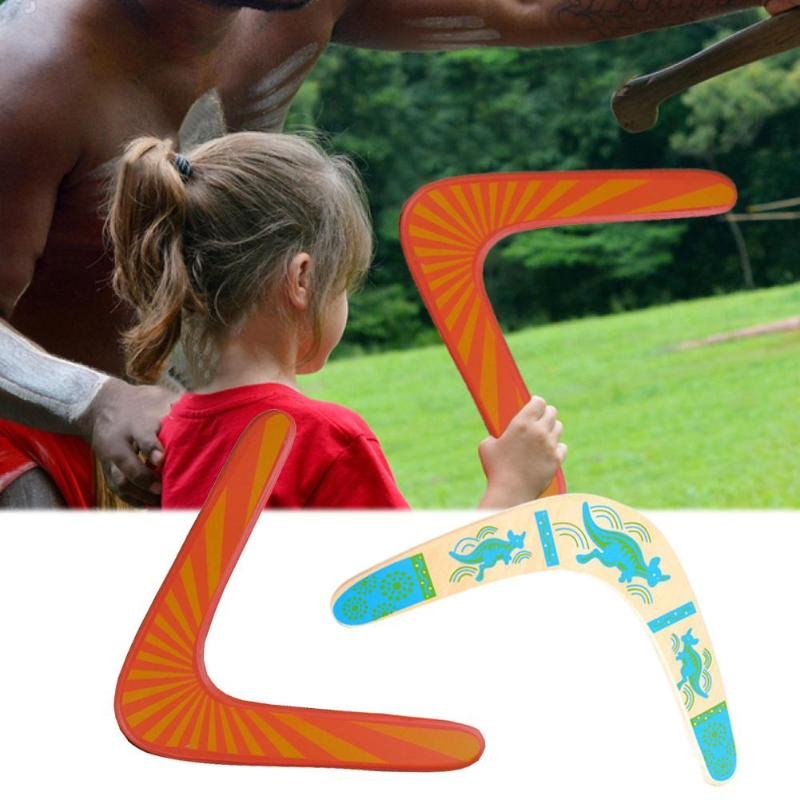 Outdoor Sports Kangaroo Throwback V Shaped Boomerang Flying Disc Throw Catch Outdoor Game  For Children Gift