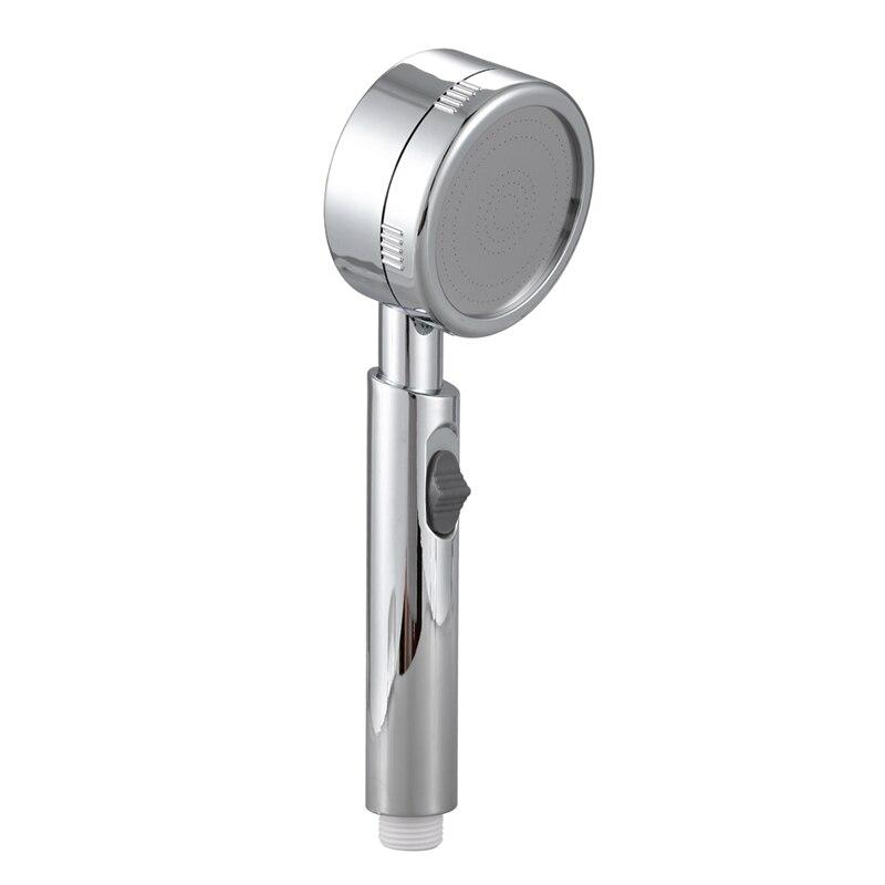 Super Low Water Pressure Boosting Shower Head Water Saving Bath Showers Bathroom