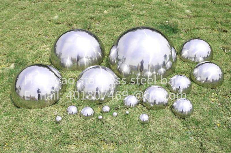 Silver Dia 38mm 3.8cm 304 Stainless Steel Hollow Hemispherical Polished Mirror Elevator Decorative Hemisphere Steel Tube Cover