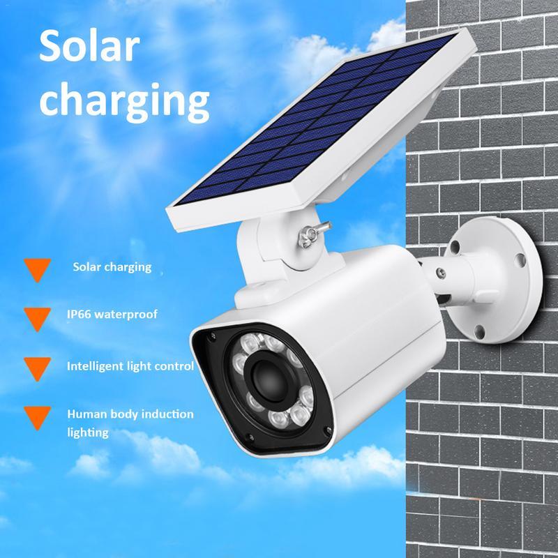 Aufrichtig Neue Solar Simulation Überwachung Kamera Solar Induktion Licht Im Freien Wasserdichte Ip66 Solar Garten Licht Sicherheit Wand Lampen Solarlampen