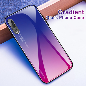 Image 5 - Gradient Glass Phone Case Case For Huawei P Smart 2019 P20 Pro Lite Mate20 Nova3i Honor 20s 10 8X 9X 20 Pro Colorful Cover Shell