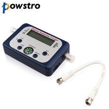 Powstro 범용 GSF 9506 디지털 토 파인더 TV 위성 파인더 미니 안테나 위성 TV 용 LCD 화면 디스플레이