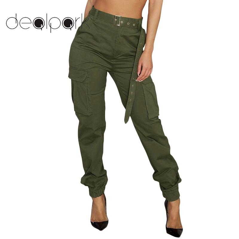 US $11.9 37% OFF|Cargo Pants Women Joggers High Waist Baggy Pants Womens  Trousers Functional Pockets Long Pants female Sweatpants Plus Size 3XL-in  ...
