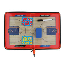 Basketball Coaching Board Tactics Strategy Training Clipboards with Fold Size: 28.2x20cm/Unfold 42x28.2cm