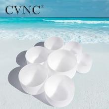 CVNC 6-12 7 pcs chakra tuned lot de naturel  dépoli bol chantant en cristal quartz