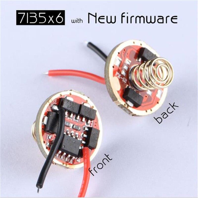 CLAITE Flashlight Driver New Firmware 7135x3/7135x4/7135x6/7135x8 17mm Flashlight Accessories