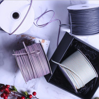 3mm 300Yard Double Color Stripe DIY BowHairdress Bouquet Packaging Ribbon Garment Accessories Cotton Ribbon