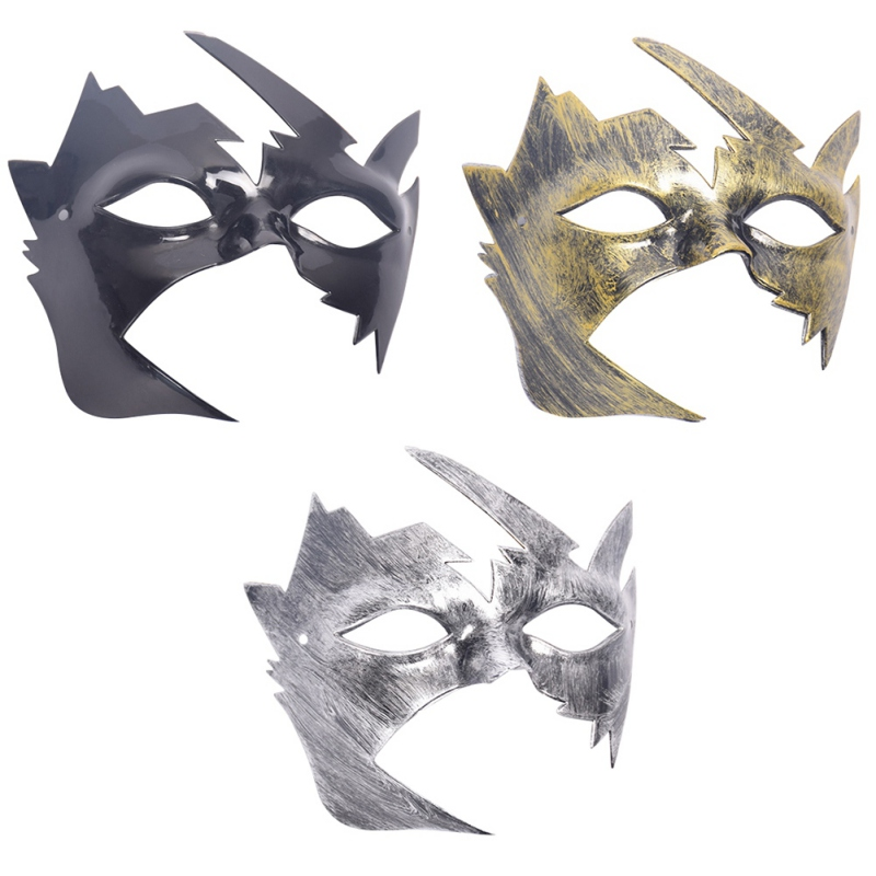 Party Masks For Masquerade Halloween Venetian Costumes Carnival Mask Anonymous Mardi Burnished x