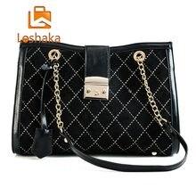 Loshaka women shoulder bag Large capacity Chain bucket Handbags Quality PU leather  Women s Totes Shopping Bag bolsa feminin 908da0abd6c20