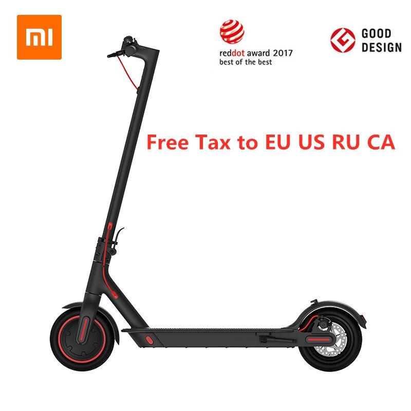 Original Xiaomi Mijia Pro KickScooter électrique intelligent pliable planche à roulettes légère 45 KM kilométrage Scooter