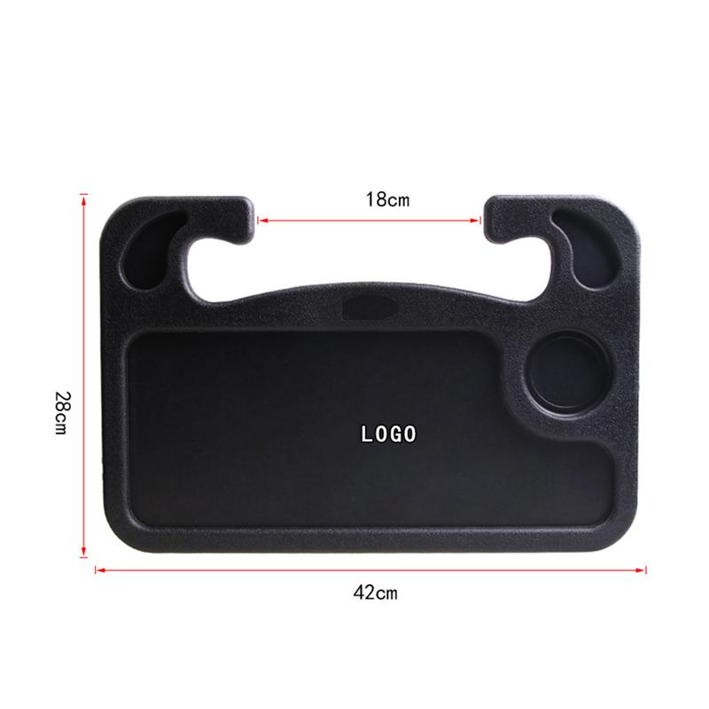 Multi-Functional Car Seat Tray Table Steering Wheel Laptop Notebook Desk And Food Drink Tray Holder (Black)